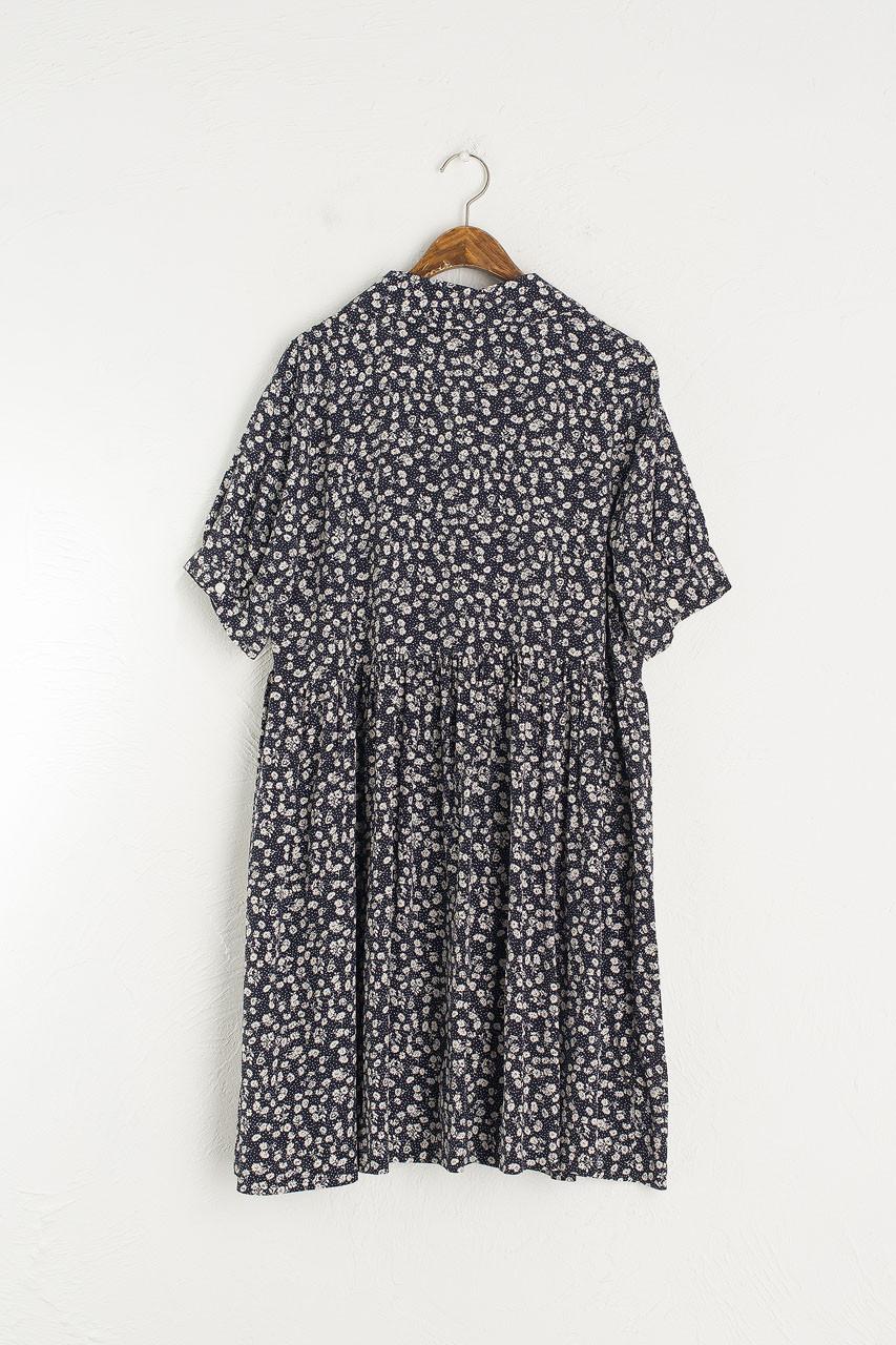 Rosie Babydoll Dress, Navy
