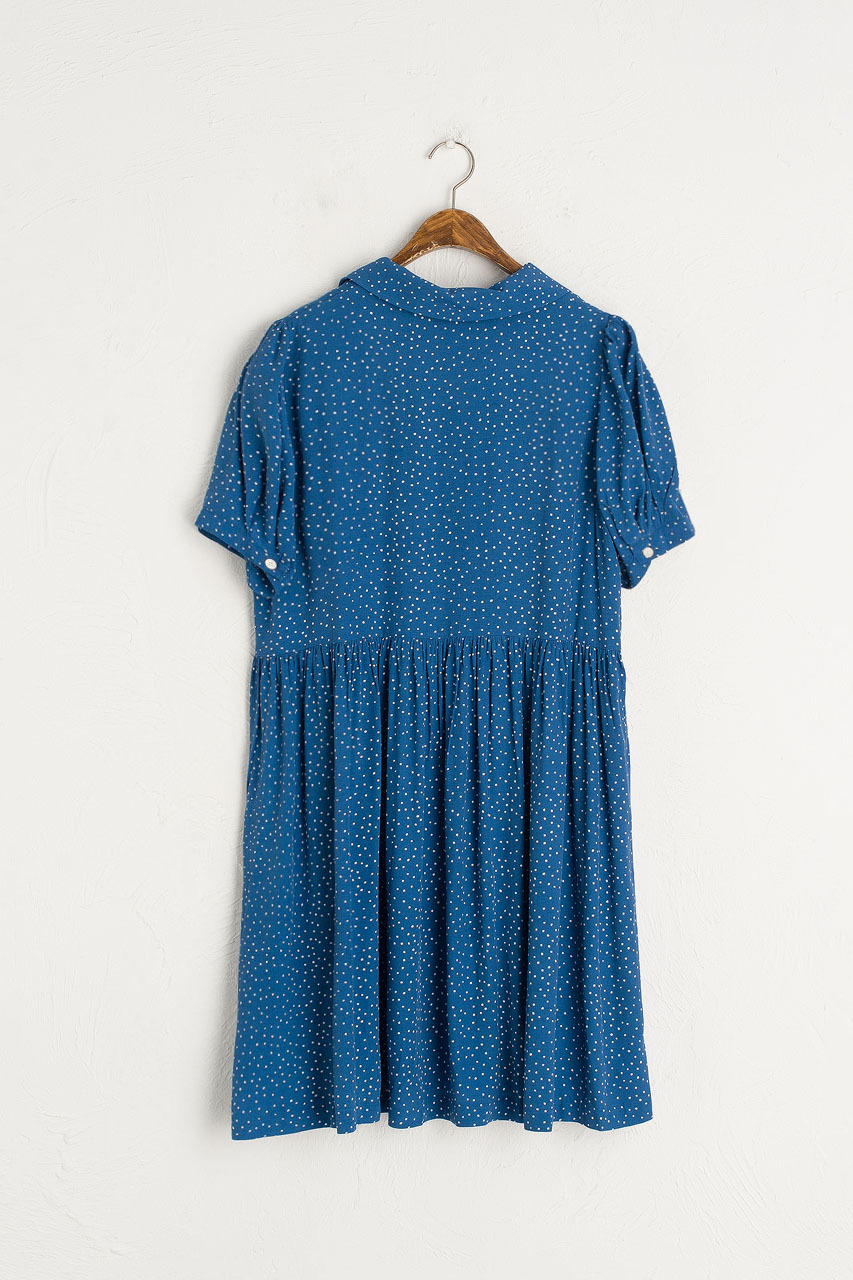Dotty Babydoll Dress, Blue