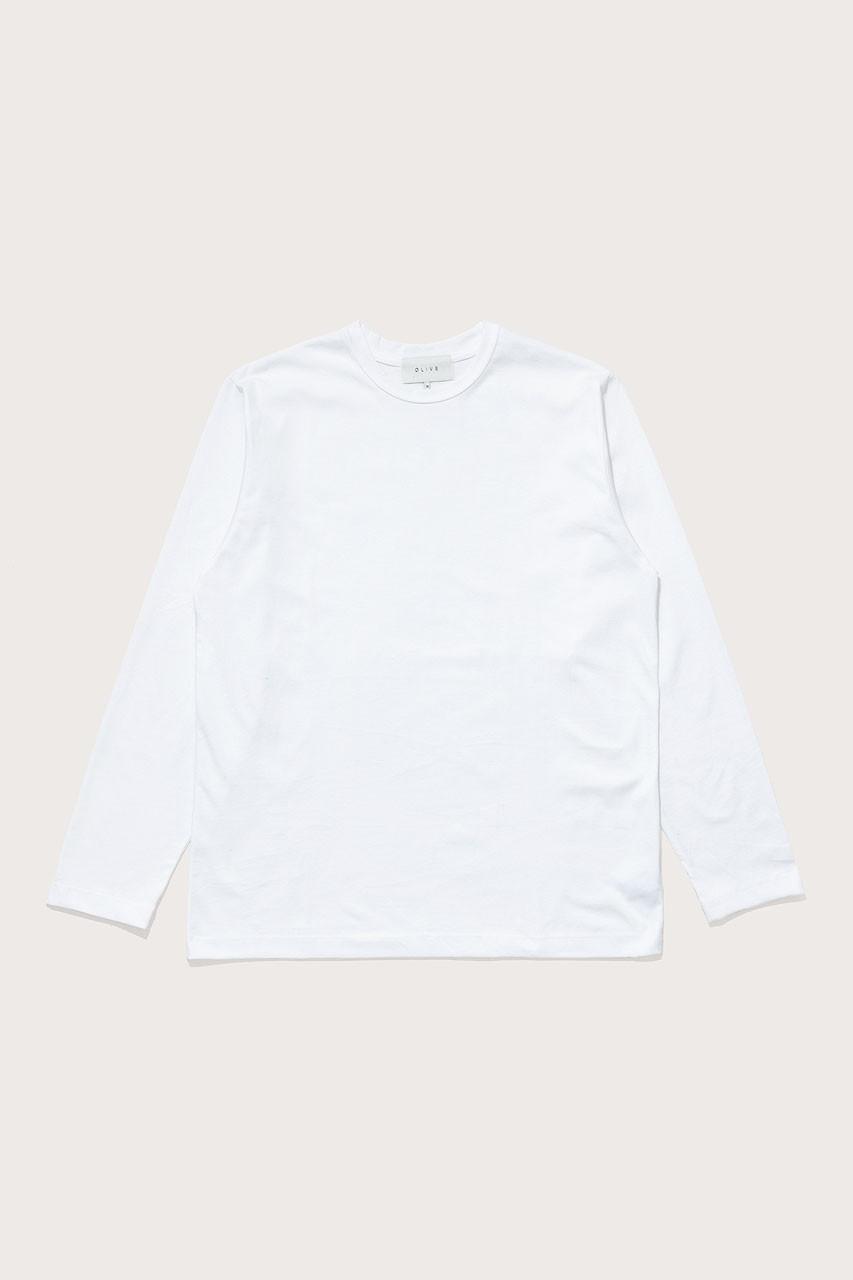 Menswear | Boxy Long Sleeve Tee, White