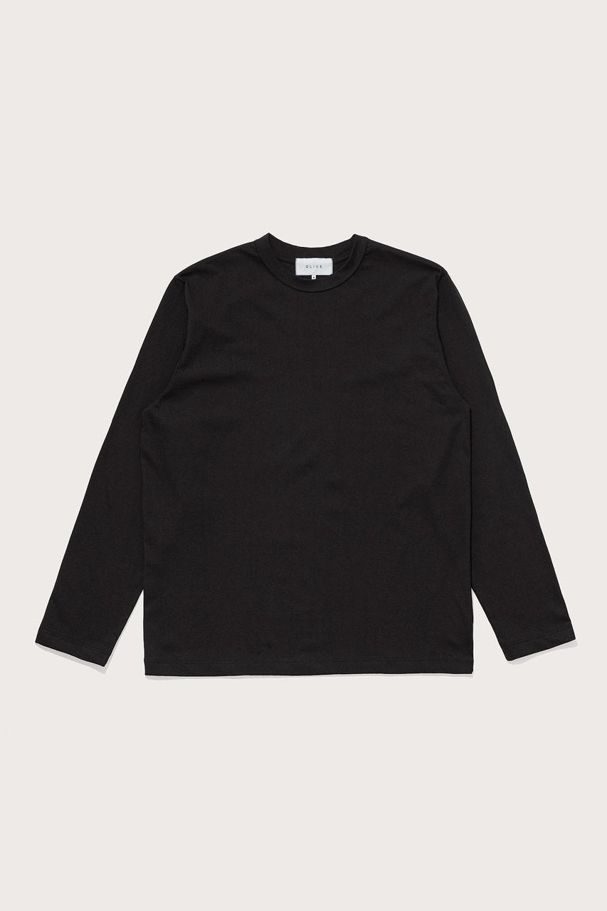Menswear   Boxy Long Sleeve Tee, Black