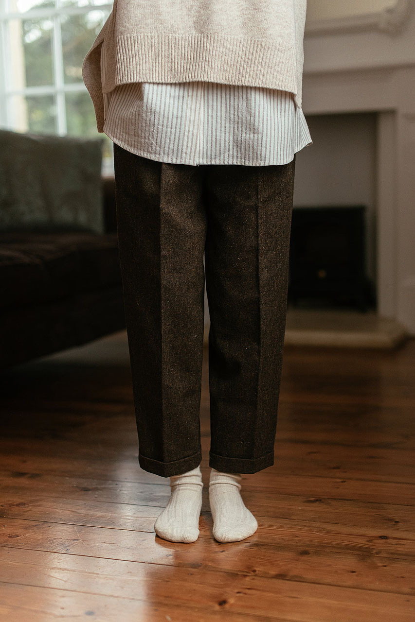 Volk Wool Trousers, Chestnut