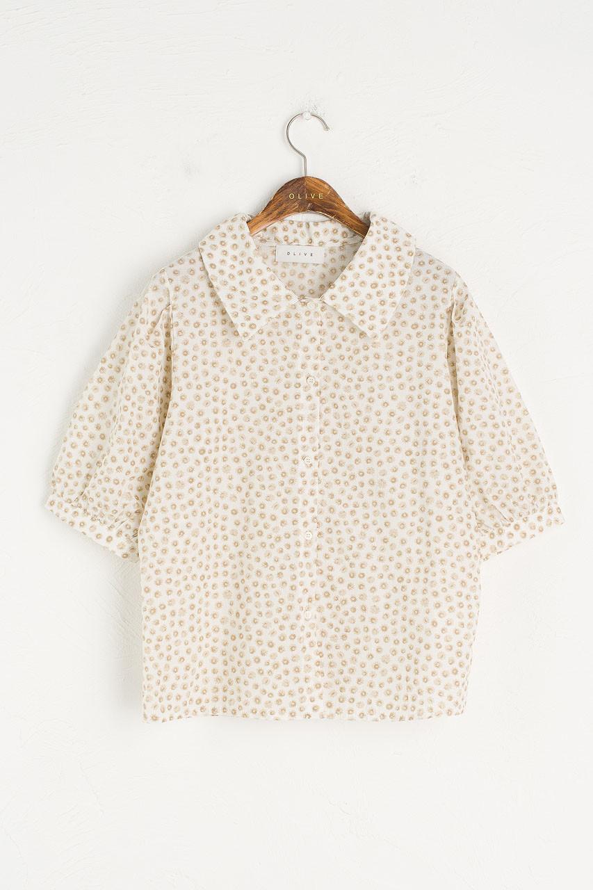 Chie Cotton Shirt, Beige