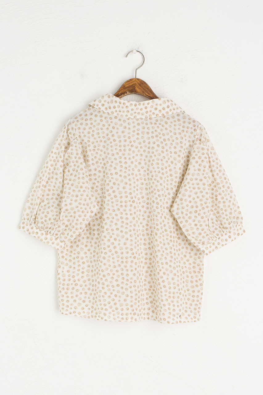 Chie Cotton Shirt, Beige