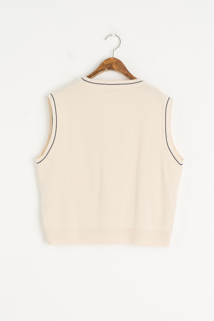 Chiyo Pocket Vest, Cream