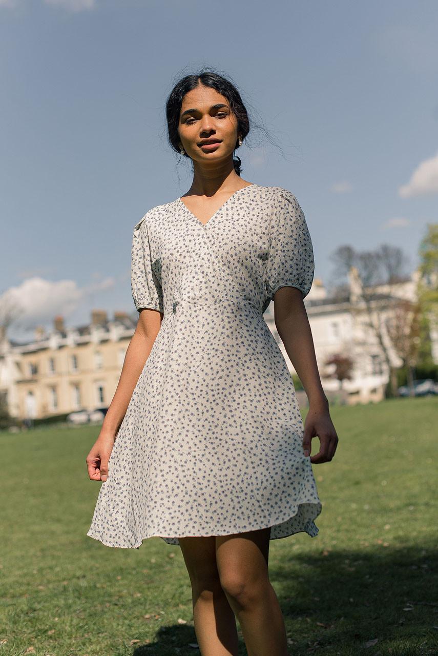 Mae Floral Dress, Ivory