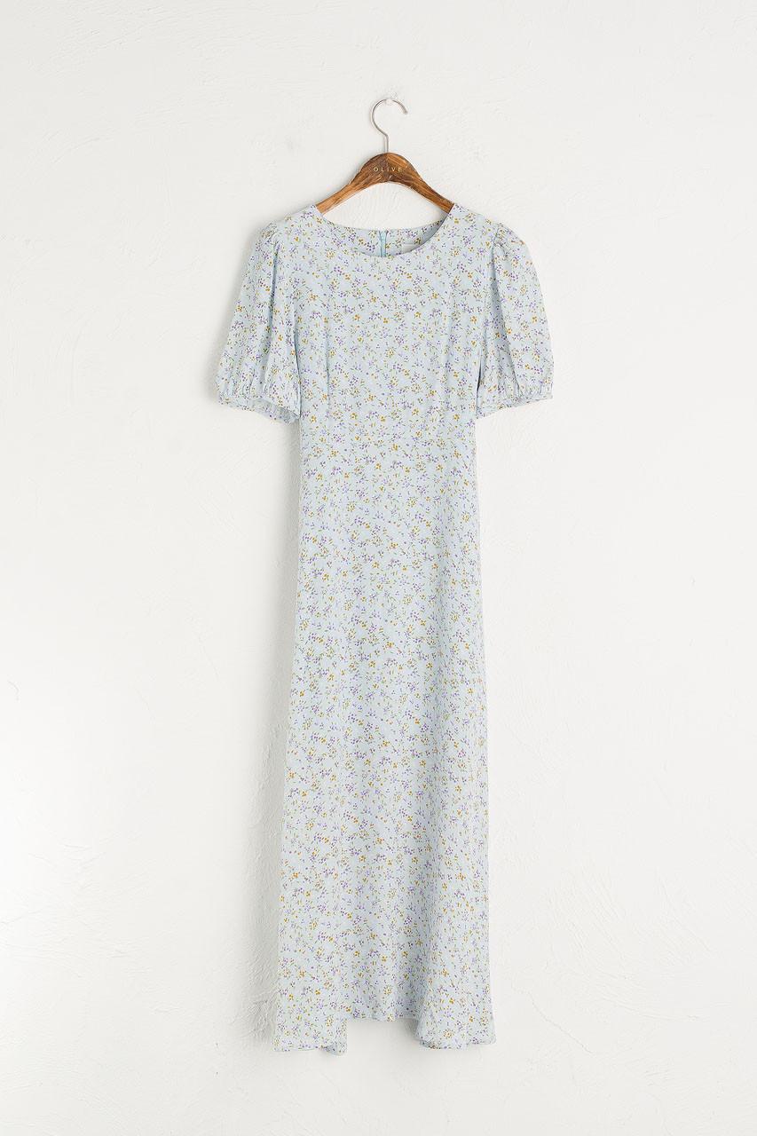 Wildflower Printed Dress, Blue