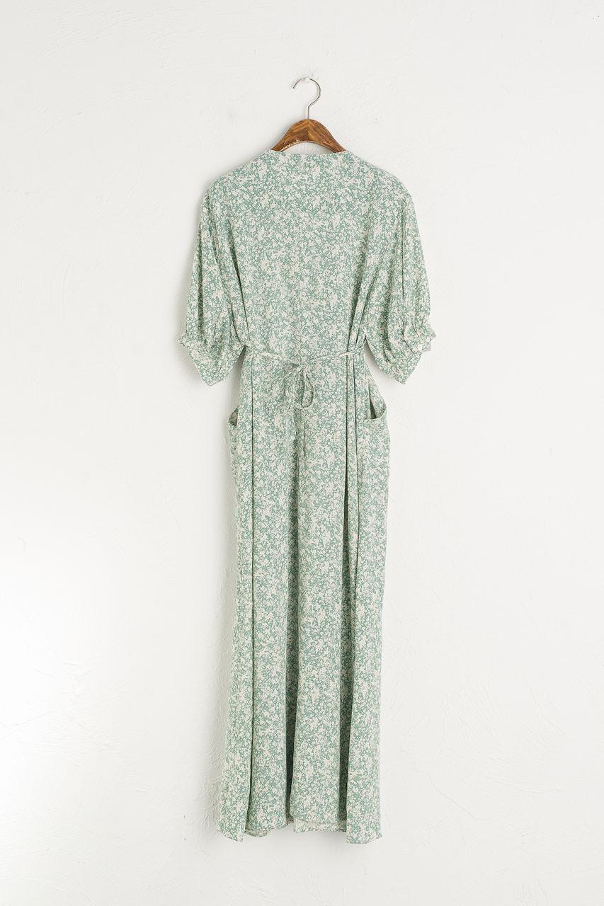 Floral Kimono Dress, Mint