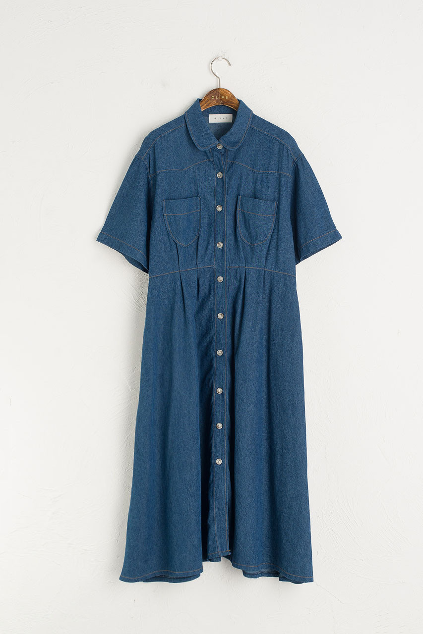 Anita Denim Dress, Blue