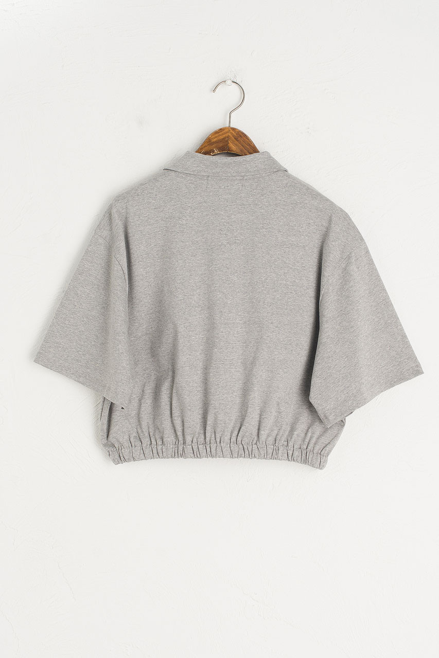 Roa Crop Tee, Grey