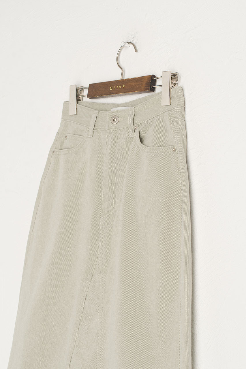 Denim A Line Skirt, Sage