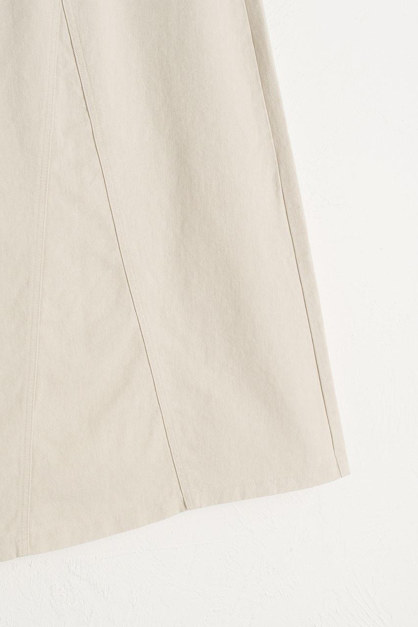 Denim A Line Skirt, Light Beige