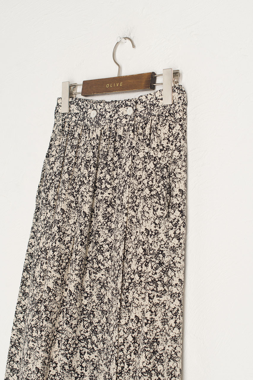 Kiko Floral Skirt, Black