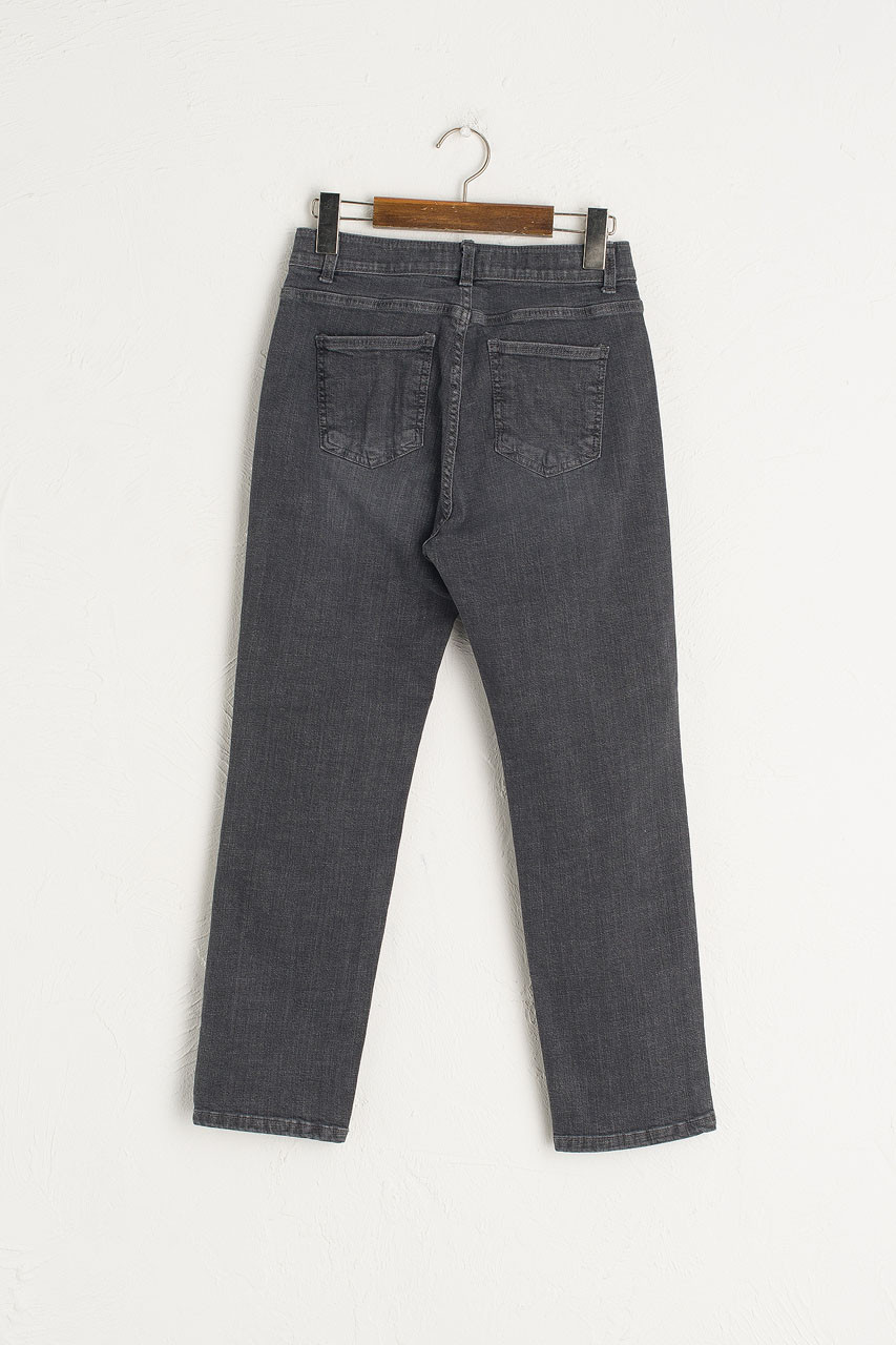 Stretch Waist Skinny Jean, Charcoal