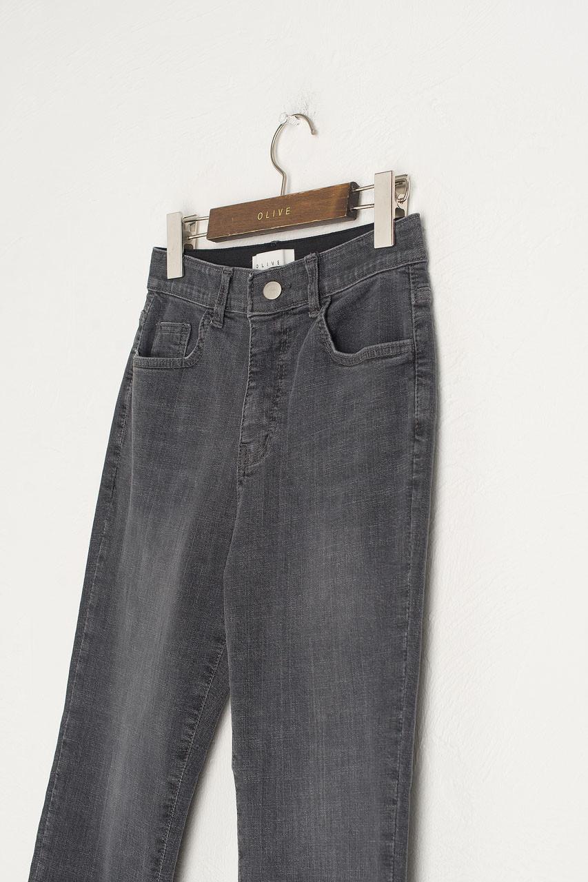 Stretch Waist Skinny Jean, Charcoal