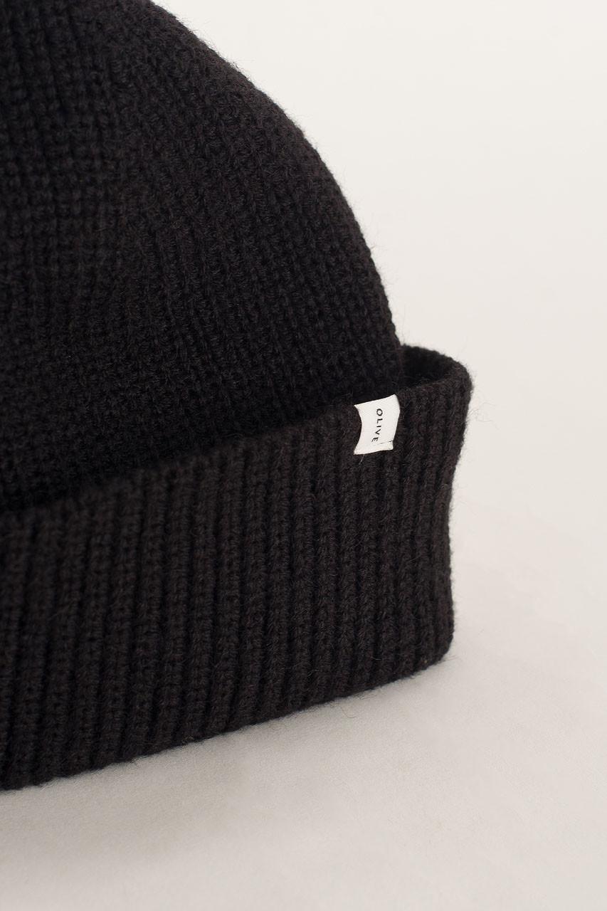 Knitted Beanie, Black