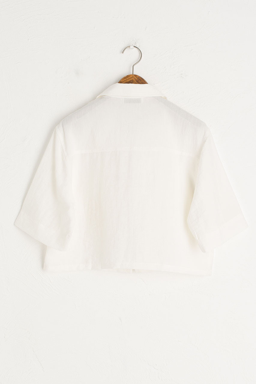 Crop Zip Up Top, Ivory