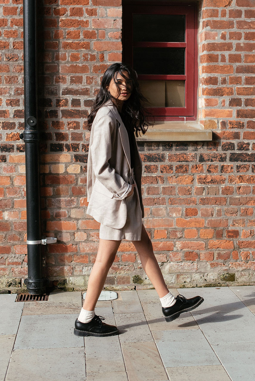 Rina Linen Jacket, Beige