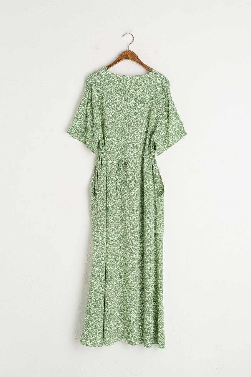 Kimono Sleeve Garden Dress, Green