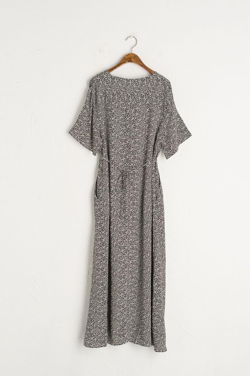 Kimono Sleeve Garden Dress, Black