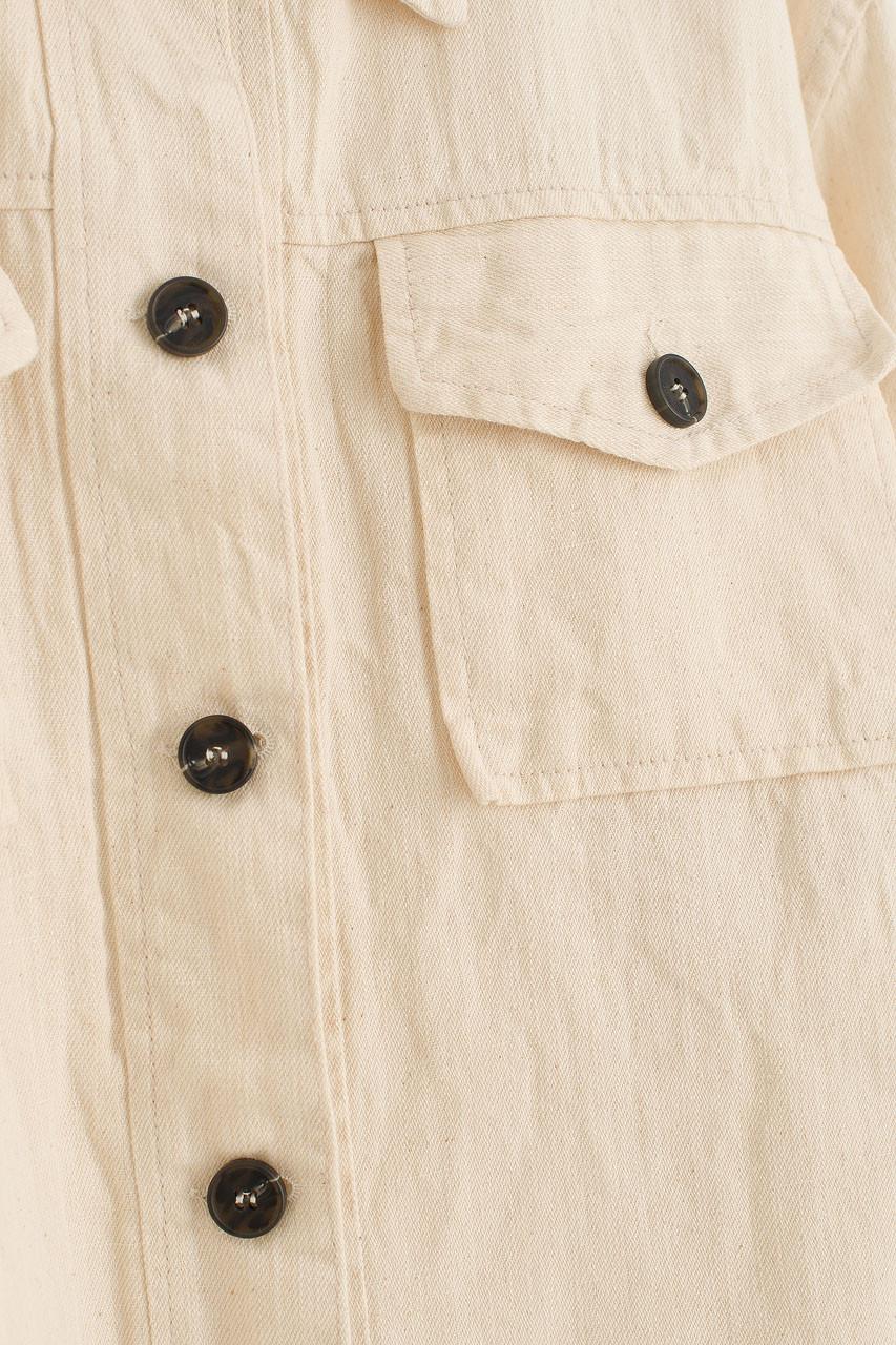 Linen Utility Jacket, Ivory