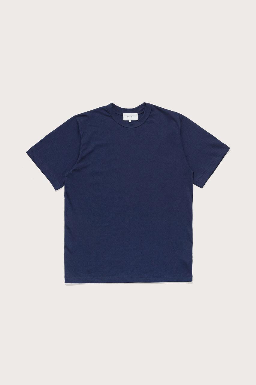 Menswear   Boxy Short Sleeve Tee, Navy