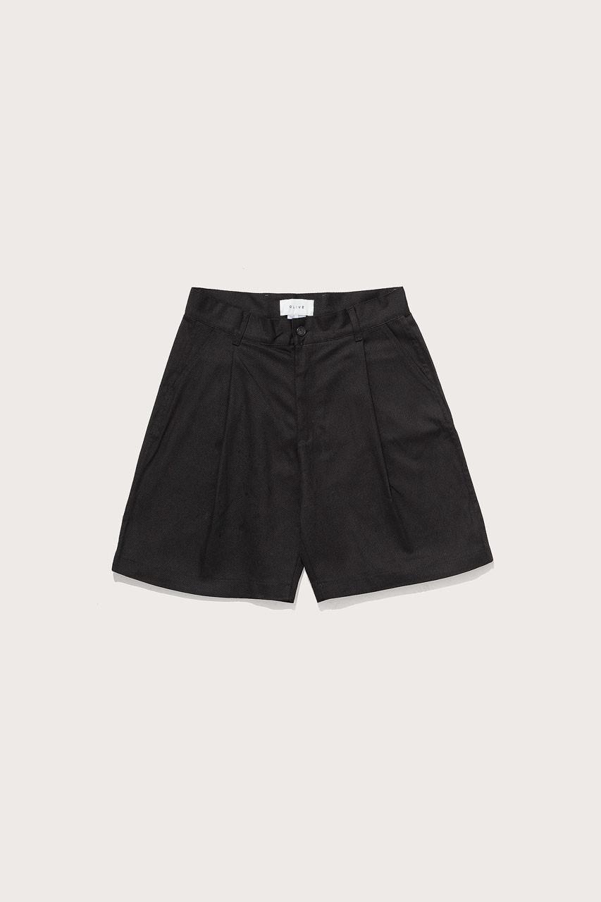 Menswear | Twill Shorts, Black