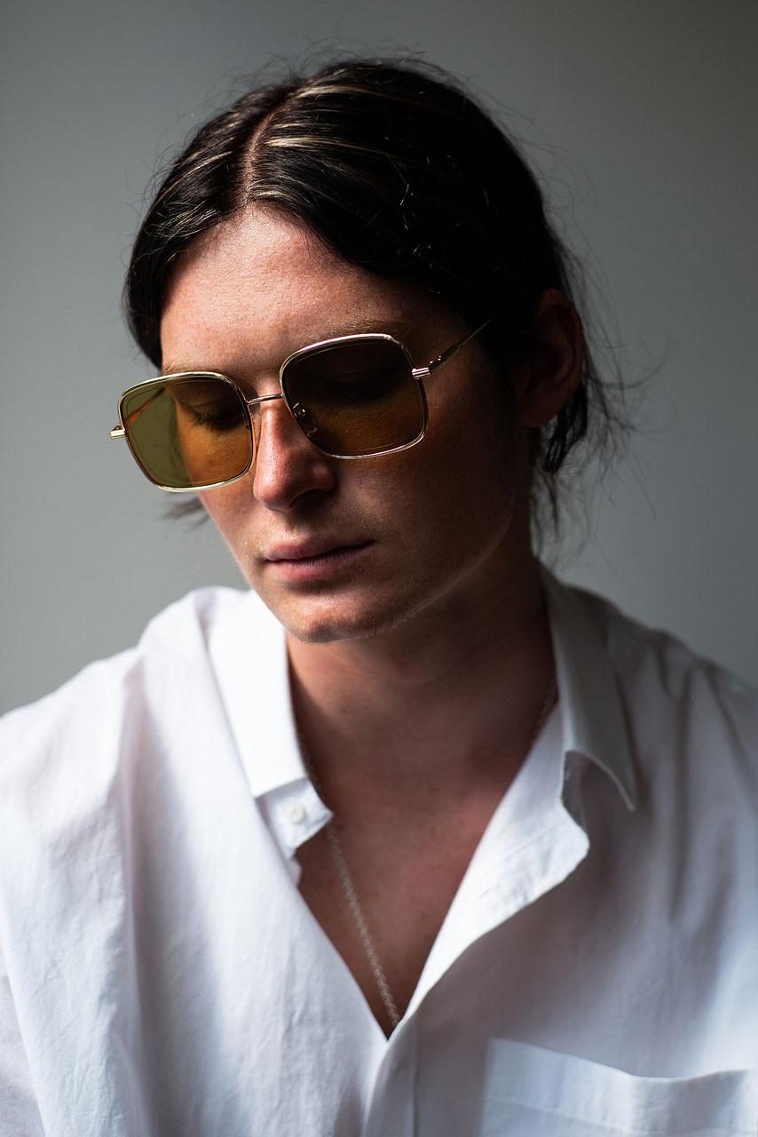 Menswear | Yukai Sunglasses, Gold Lens