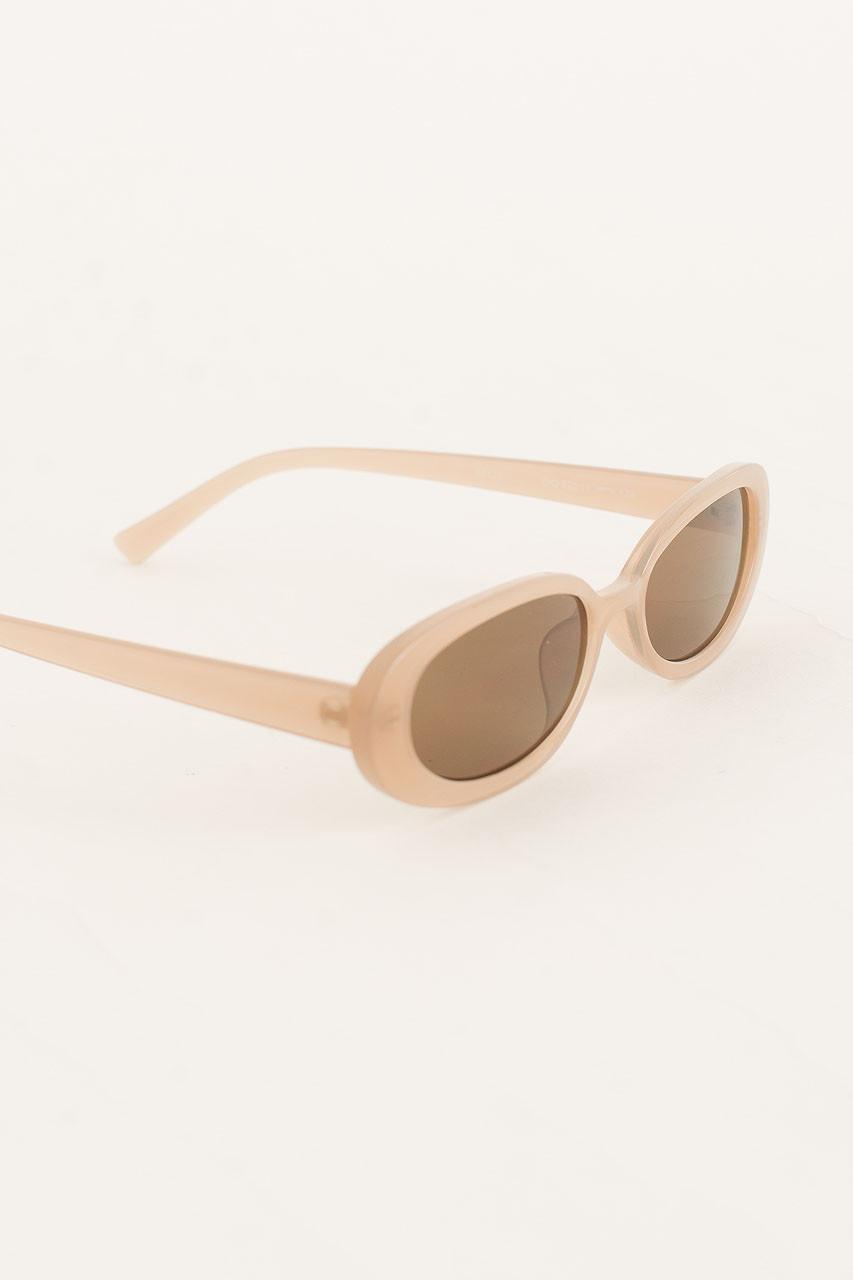 Bona Oval Shape Sunglasses, Beige