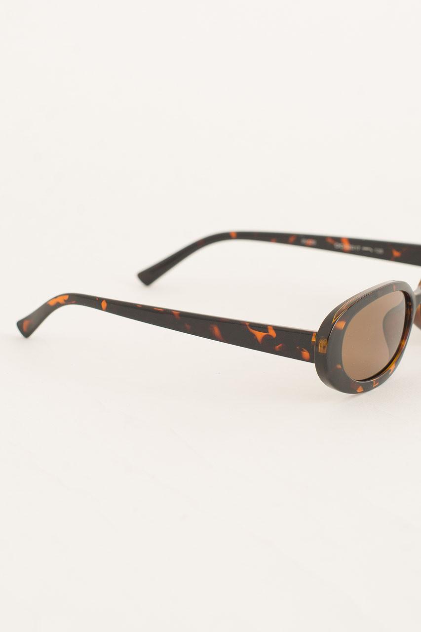 Bona Oval Shape Sunglasses, Leopard
