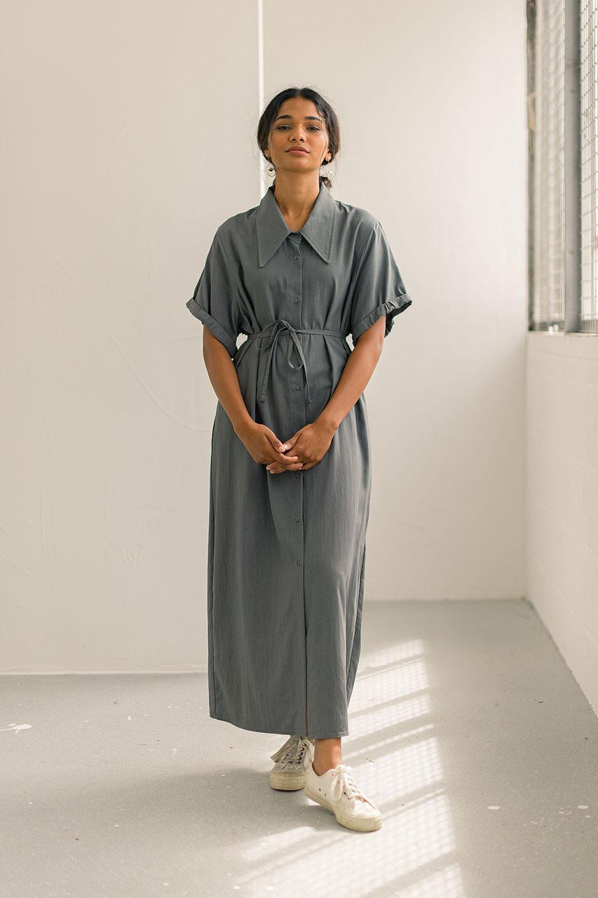 Serena Shirt Dress, Grey