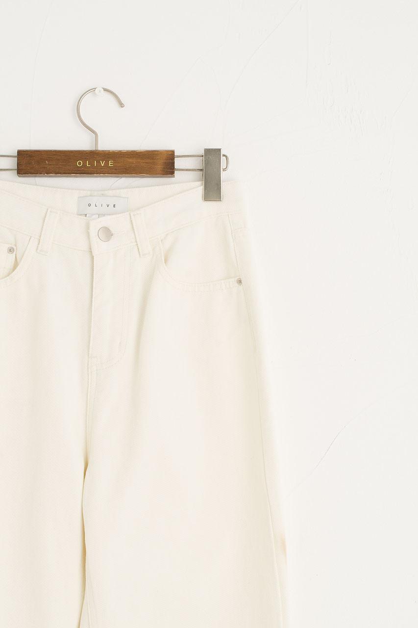 Serena Straight Jean, Cream