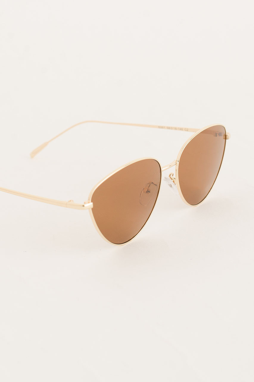 Lina Cat Sunglasses, Brown