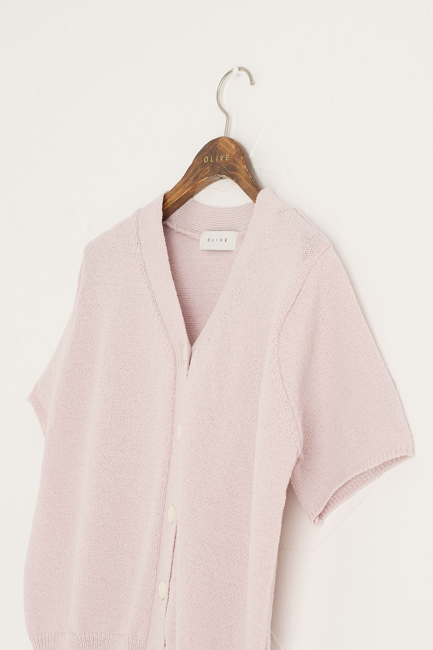 Miro Short Sleeve Cardigan, Pink