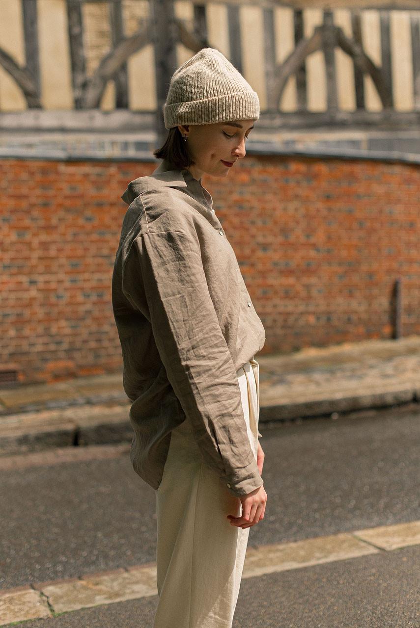 Sandsend Linen Shirt, Brown