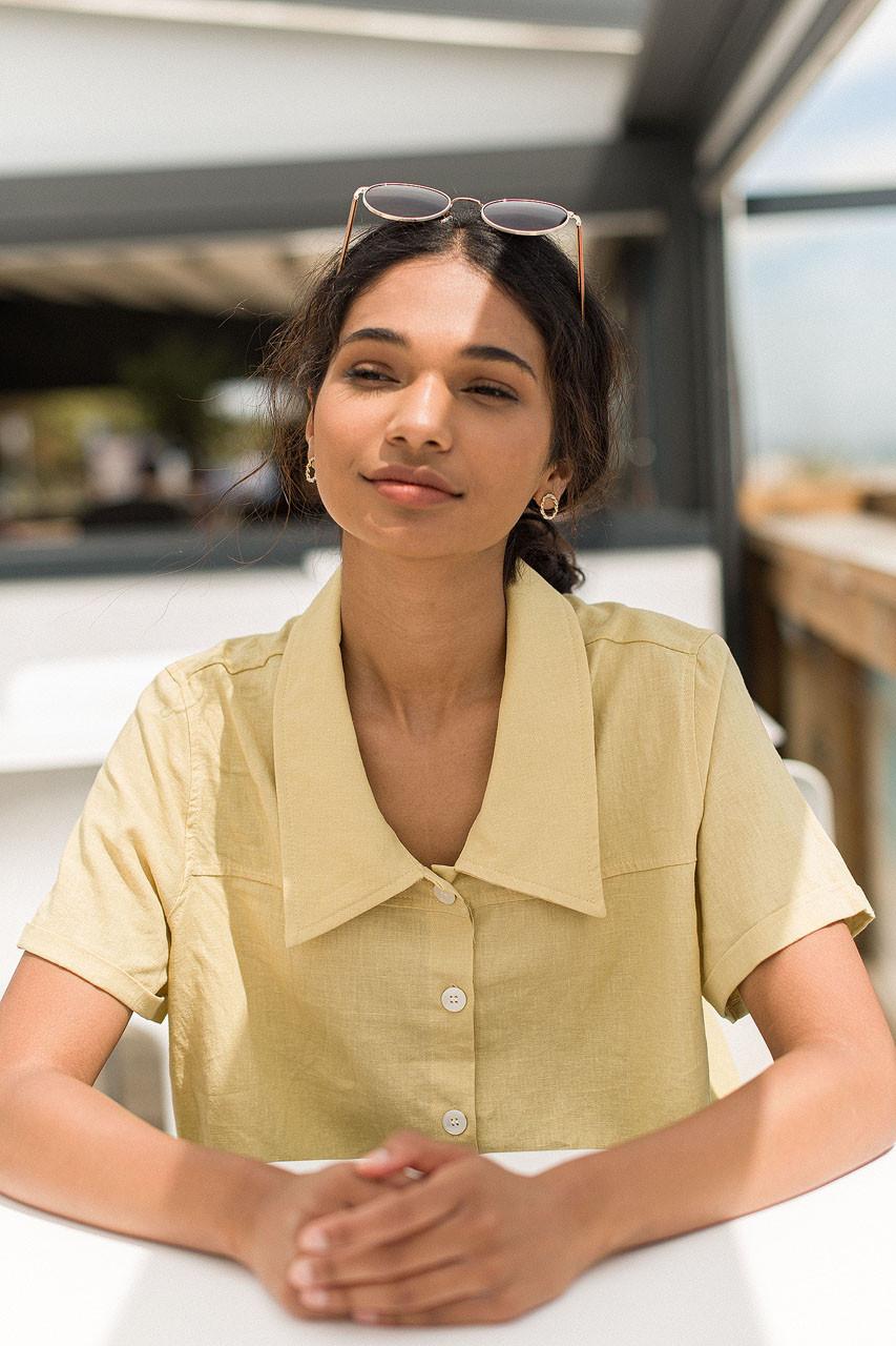 Sora Crop Shirt, Mustard
