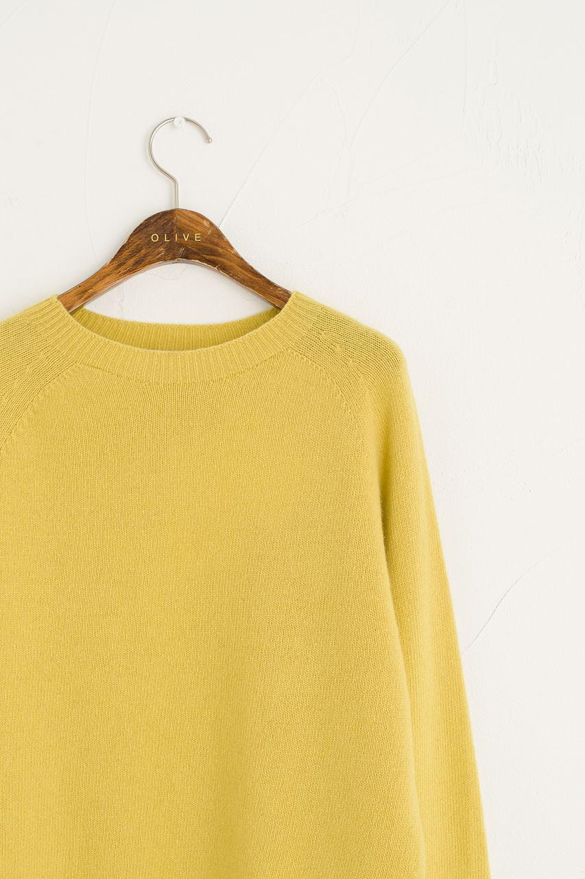 Wool Cashmere Raglan Jumper, Pollen