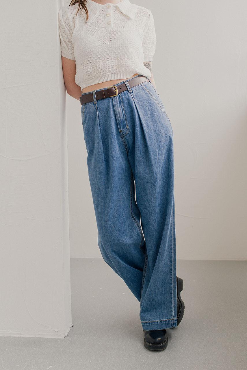 Wide Retro Jean, Light Blue