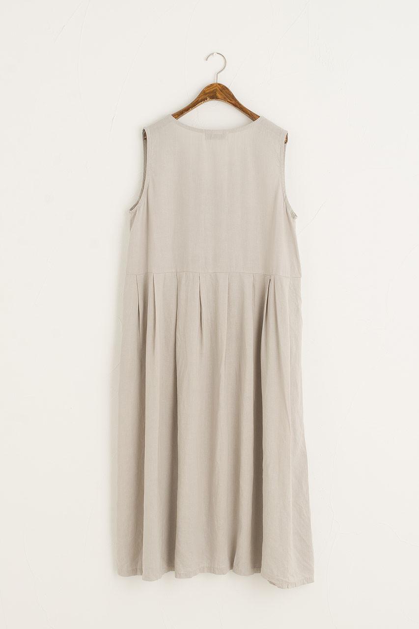 Hichko Button Down Sleeveless Dress, Grey