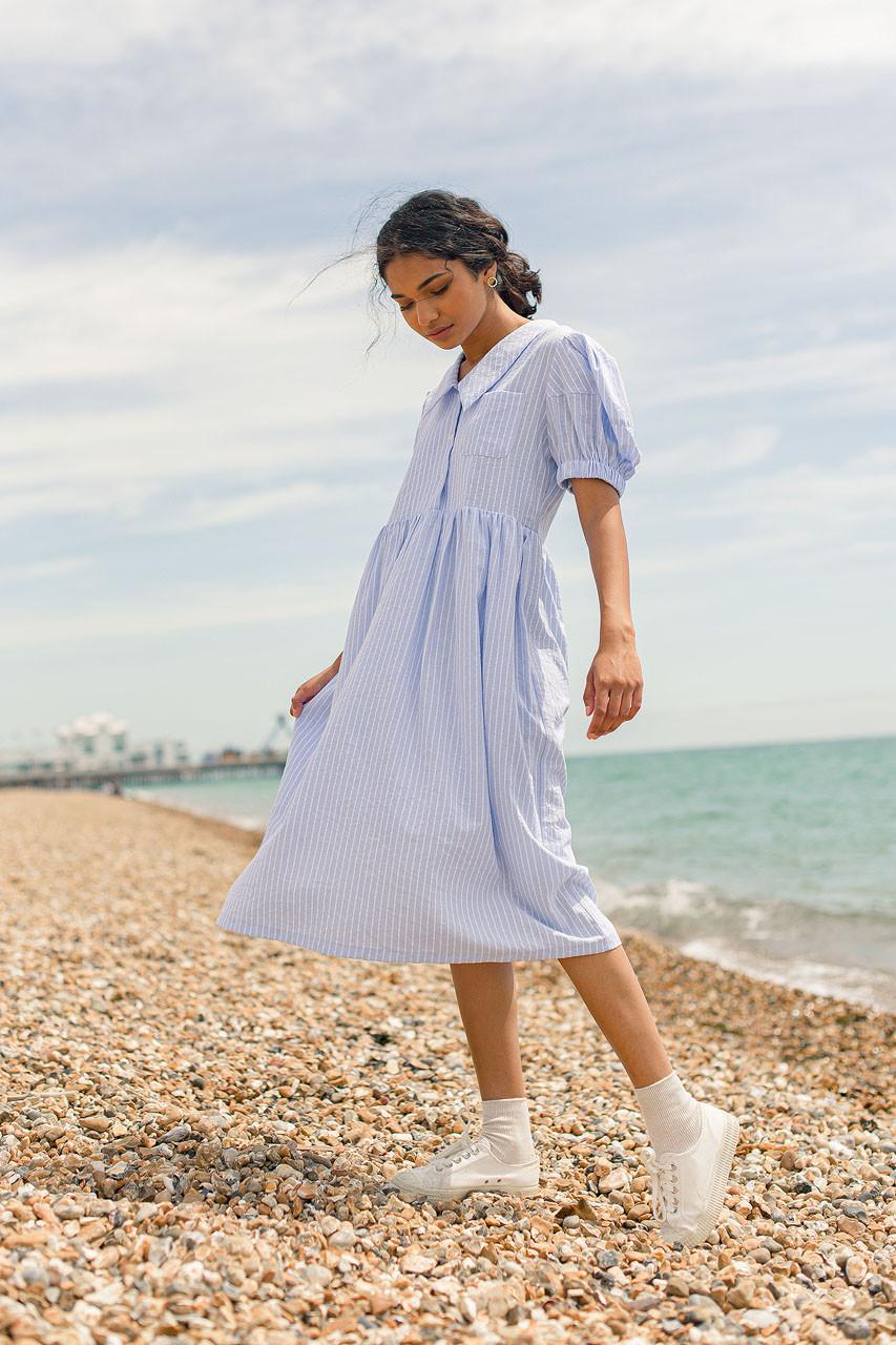 Miri Stripe Dress, Blue