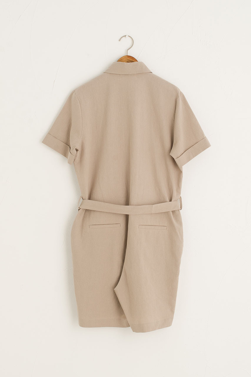 Koya Pocket Jumpsuit, Beige