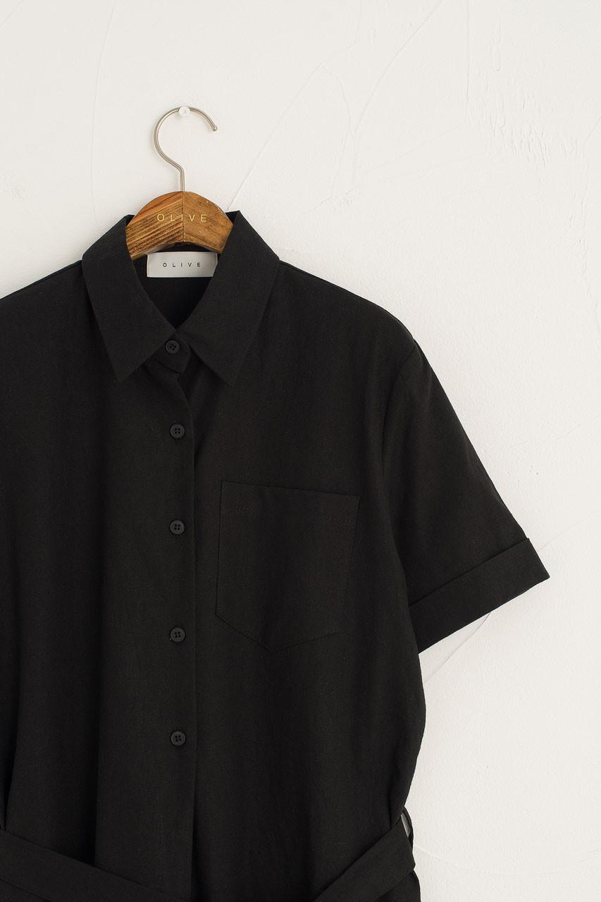 Koya Pocket Jumpsuit, Black
