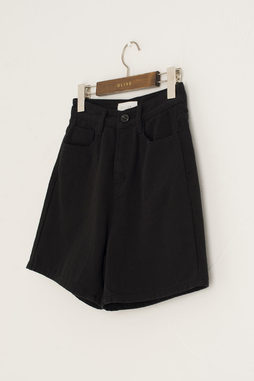 Twill Cotton Short, Black