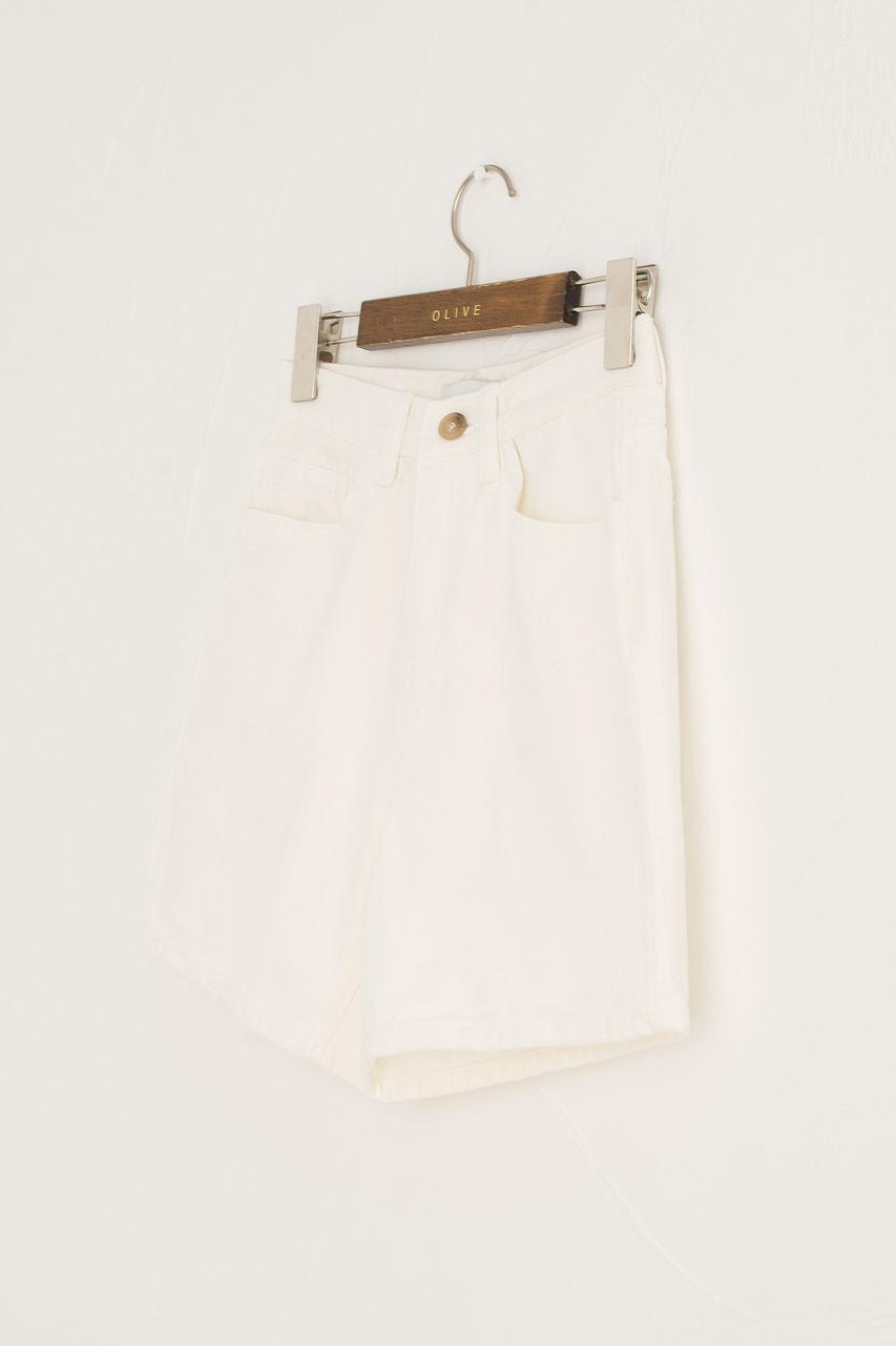Twill Cotton Short, White