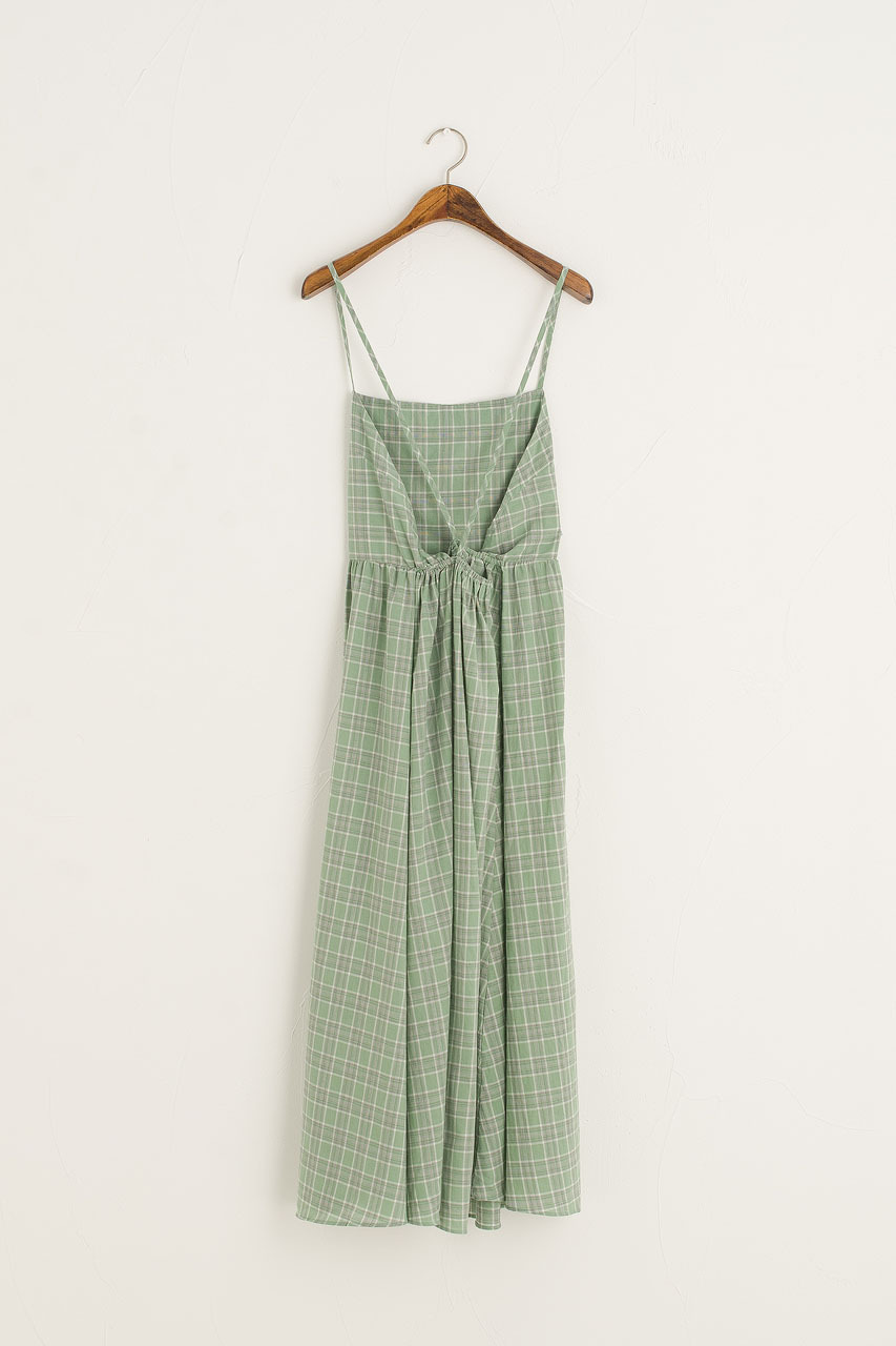 Malibu Check Slip Dress, Green