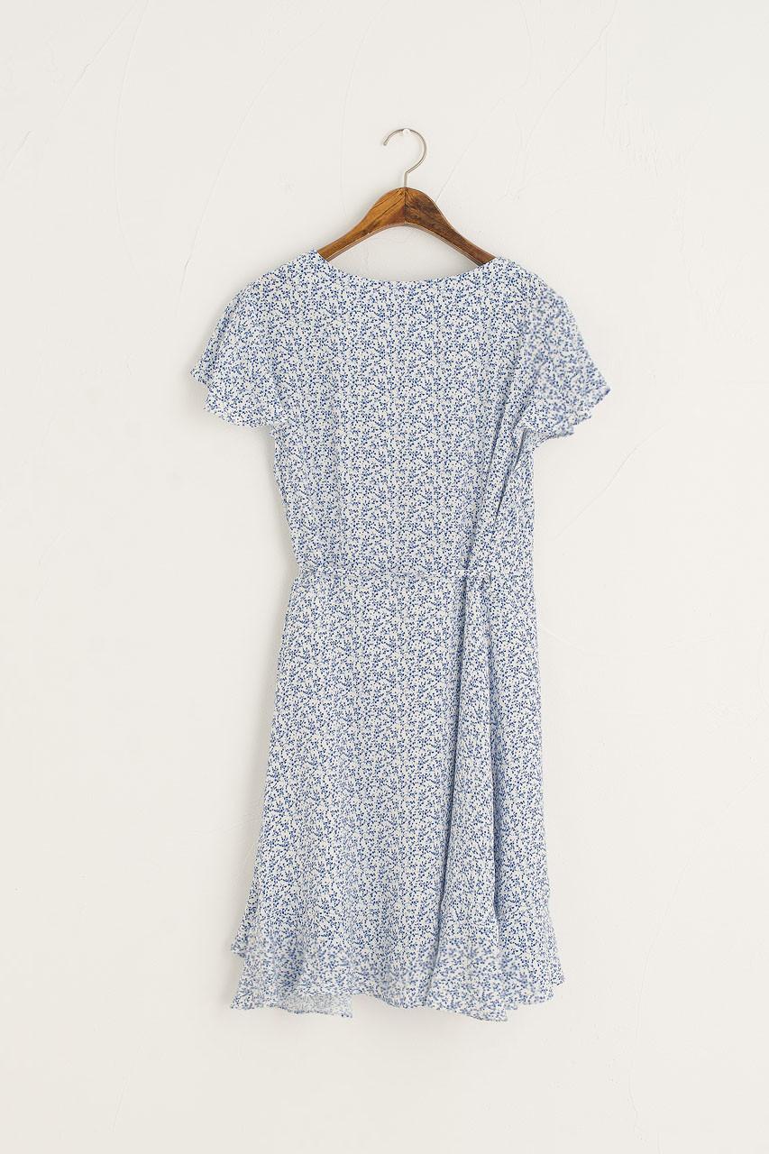 Rosa Frill Warp Dress, Blue