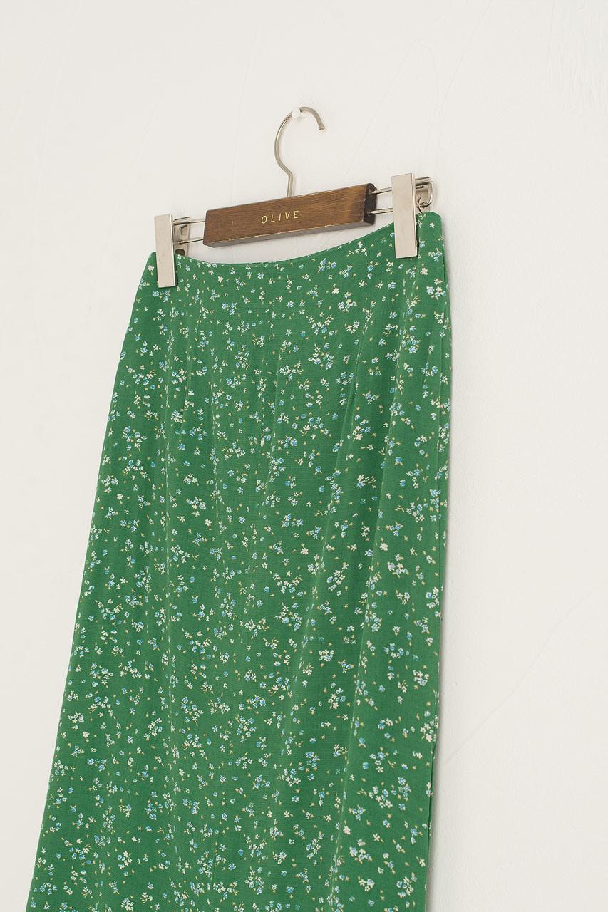 Mermaid Flower Skirt, Green