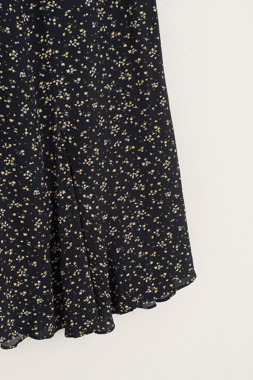 Mermaid Flower Skirt, Black