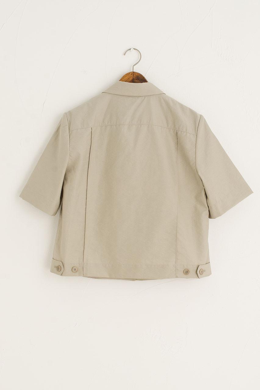 Twin Pocket Crop Single Jacket, Sage
