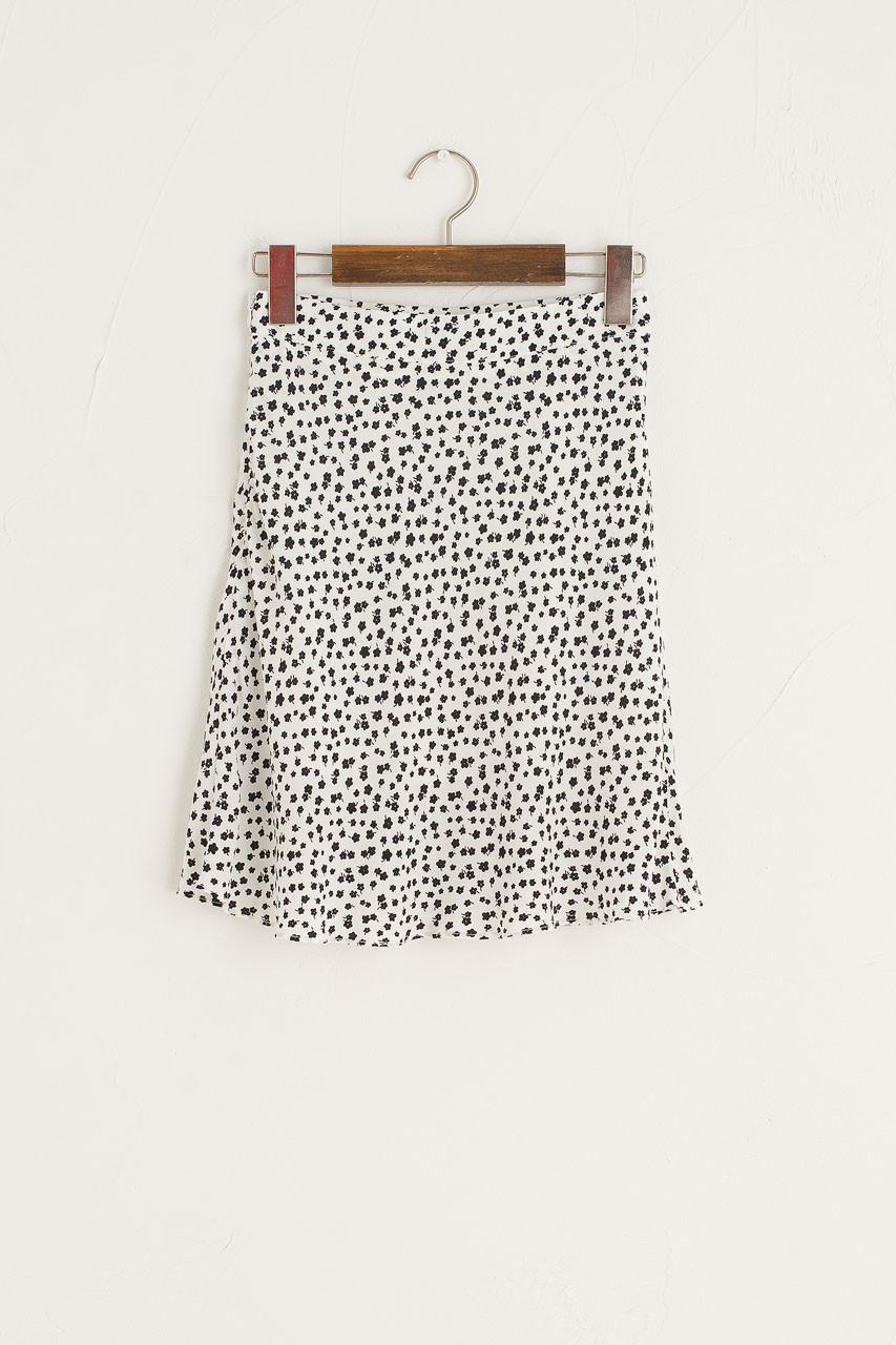 Clovers Mini Skirt, Ivory