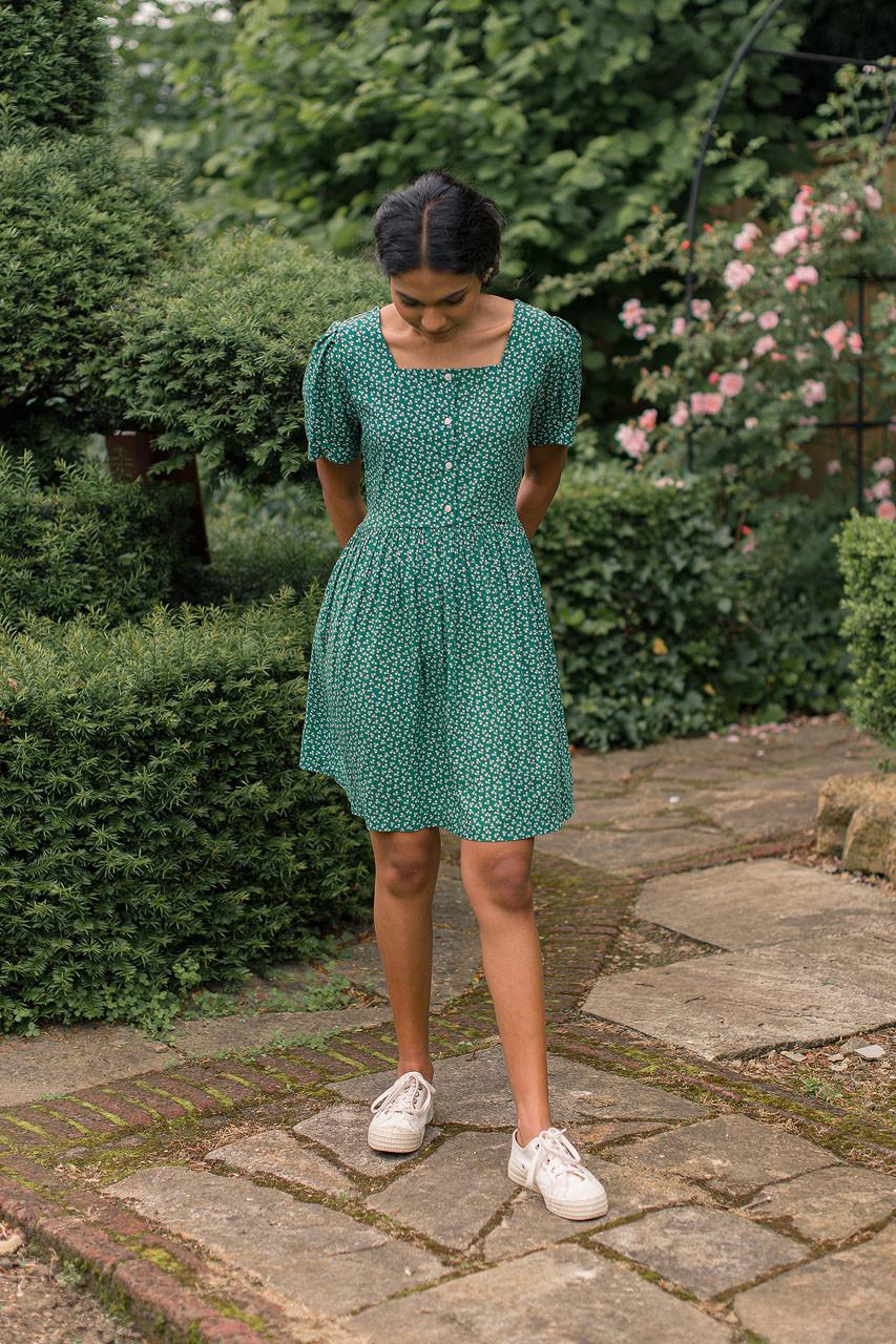Sapling Mini Dress, Green